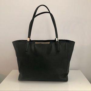 Authentic Coach Handbag Black with Gold Trims